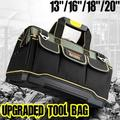 Upgraded Multifunctional Electrical Bag Tools Case Oxford Bag Electrician Canvas Tool Bag Toolkit Hardware 20''