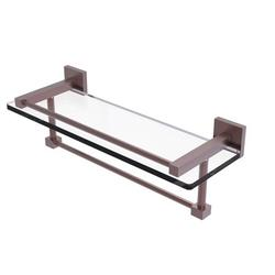 Montero Collection 16 Inch Gallery Glass Shelf with Towel Bar