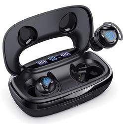 Bluetooth Headphones, Wireless Earbuds 5.0 Auto Pairing HiFi Stereo Sound True Wireless Earbuds in Ear Bluetooth Earphones Binaural Call Headset with Built in Mic and Charging Case for Sports