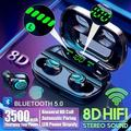Newest 8D Surround Sound TWS Earphones Wireless Bluetooth 5.0 Stereo Earbuds Sport Waterproof Headphones Touch Control Dual Headsets Mini Earbuds With with Power Bank Chaging Case 2200mAh/3500mAh