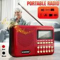AM FM Portable Radio SW/ TF/ USB/ MP3, Cordless Radio, Battery Operated Radio by 4X18650 Battery Or DC 5V Power Transistor Radio with Big Speaker Digital Display Gift for Elder Parents