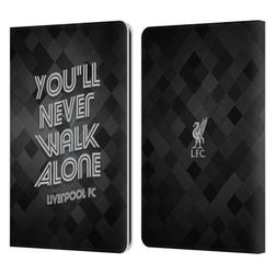 Head Case Designs Officially Licensed Liverpool Football Club Liver Bird Ynwa Grey Pixel Ynwa Retro Leather Book Wallet Case Cover Compatible with Amazon Kindle Paperwhite 1 / 2 / 3