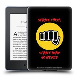 Head Case Designs Officially Licensed Cobra Kai Graphics 2 No Mercy Logo Soft Gel Case Compatible with Amazon Kindle Paperwhite 1 / 2 / 3