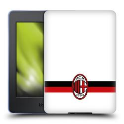Head Case Designs Officially Licensed AC Milan Crest White Soft Gel Case Compatible With Amazon Kindle Paperwhite 1 / 2 / 3