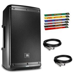 """JBL Professional EON610 Portable 10"""" 2-Way Multipurpose Self-Powered Speaker with 2 x 10ft XLR and Cable Ties and Refurbished"""