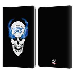 Head Case Designs Officially Licensed WWE Steve Austin Retro Skull Leather Book Wallet Case Cover Compatible with Amazon Kindle Paperwhite 1 / 2 / 3