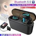 New 5.0 TWS Wireless Bluetooth Headphones In-ear Earbuds Ear Buds Twins Earphones Noise Reduction Earbud Headset with Charging Box