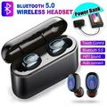 Newest 8D Surround Sound TWS Bluetooth Earbuds IPX5 Waterproof Wireless Sport Headset Noise Cancelling Earphones Mini Bluetooth Earbuds with Charging Case(single or dual earbuds)