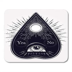 SIDONKU Engraved Bohemian Ouija That Consists of Eye Providence Magic Esoteric Philosophies Tattoo Alchemist Mousepad Mouse Pad Mouse Mat 9x10 inch