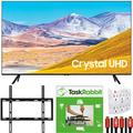 Samsung 50-inch UN50TU8000 4K Ultra HD Smart LED TV (2020 Model) Crystal Processing 4K Bundle with TaskRabbit Installation Services + Deco Gear Wall Mount + HDMI Cables + Surge Adapter