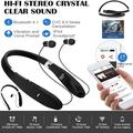 Fashion Bluetooth Headphones, Bluetooth Headset Foldable Neckband Wireless Headset with Retractable Earbuds, Bluetooth CSR 5.0, 16 Hours Playtime, Sports Sweatproof Noise Cancelling Earphones with Mic