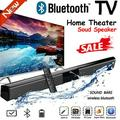 Bluetooth TV Soundbar 4 Speaker 3D Wireless Strip Stereo Surround Speaker Home Theater Subwoofer RCA + Remote Control Small and Large