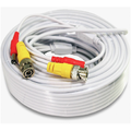 Security Camera Cable Wire CCTV Video Power 66 FT 20M BNC RCA Cord DVR