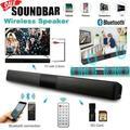 Bluetooth Wireless TV Soundbar 4 Speaker 3D Sound Bar Music Stereo Home Theater Subwoofer RCA Portable Soundbar TF USB for TV PC