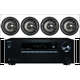 """Onkyo 5.2 Channel Full 4K Bluetooth AV Home Theater Receiver + Polk 8"""" 2 Way High-Performance Natural Surround Sound In-Ceiling Speaker System (Set Of 4)"""