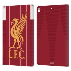 Head Case Designs Officially Licensed Liverpool Football Club 2019/20 Kit Home Leather Book Wallet Case Cover Compatible With Apple iPad Air (2019)