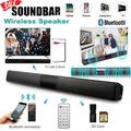 NEW 3D Surround True Stereo Wireless Bluetooth Soundbar Hi-Fi Home Theater TV Speaker Strong Bass Sound Bar with Remote Control for TV PC