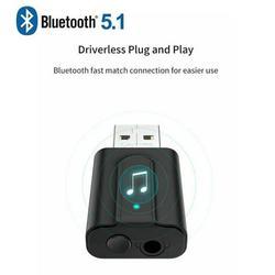 USB Bluetooth Transmitter Receiver 2 in 1 Bluetooth 5.0 Transmitter & Receiver Wireless 3.5mm Aux Adapter USB Car Audio Music
