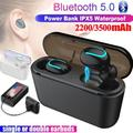 [CVC8.0 Noise Canceling] Bluetooth 5.0 TWS Wireless Bluetooth Headphones In-ear Earbuds Ear Buds Twins Earphones Noise Reduction Earbud Headset with Charging Box