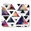 SIDONKU Pink Geometric of Watercolor Triangles and Colorful Galaxy Red Mousepad Mouse Pad Mouse Mat 9x10 inch