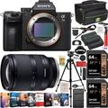 Sony a7III Full Frame Mirrorless Camera ILCE-7M3 with Tamron 17-28mm F/2.8 Di III RXD Full Frame A046 Lens Set + Deco Gear Case Tripod 2 x 64GB Memory Cards Extra Battery Kit Deluxe Bundle