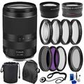 Canon RF 24-240mm f/4-6.3 IS USM Lens with Basic Accessory Bundle - Includes: 3pc UV Filter Set, 4pc Macro Filter Kit, a Neutral Density Filter & MUCH MORE (International Version)
