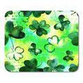 SIDONKU Celtic Painting Pattern with Vibrant Watercolour Shamrocks on Green Abstract Clover Mousepad Mouse Pad Mouse Mat 9x10 inch