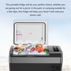 Walmeck 25L Mini Fridge Freezer Cooler and Warmer Portable Compact Car Refrigerator Quick Refrigeration Auto Picnic Icebox