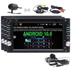 Android 10.0 Head Unit 2 Din Car Stereo Double Din Radio with Bluetooth GPS Navigation 6.2 Inch Touch Screen DVD CD Player Support 2GB WiFi Mirror Link Wirelesss Rear Camera OBD2 DVR SWC External MIC
