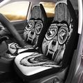 KXMDXA Set of 2 Car Seat Covers Wolf Dog Wild Wearing Biker Motorcycle Aviator Fly Universal Auto Front Seats Protector Fits for Car,SUV Sedan,Truck