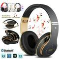 Upgraded S6 Headphones Bluetooth Headphone Wireless Bluetooth 4.0 Headphones Over-ear Headset Heavy Bass Stereo Folding with Mic Support TF SD Card