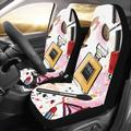 ZHANZZK Set of 2 Car Seat Covers Universal Fit Custom Cosmetics and Perfumes Universal Auto Front Seats Protector Fits for Car,SUV Sedan,Truck