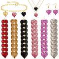 Arogheiz 60 Pcs Love Heart Shape Charm Pendants Mini Heart Charms for DIY Bracelet Necklace Earring Jewelry Making Birthday (6 Colors-60Pcs)