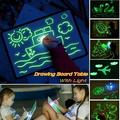 Drawing Board with Light Glow Light Effects Puzzle Board Notes Magic Drawing Pad Creative Kids Gift LEDs Lights Shine Art Drawing Toys Magic Draw Educational