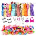 Chinatera 32pcs Doll Accessories Short Dress Highheels Necklace Glasses Bag Kids Toy
