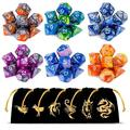 CiaraQ DND Dice Set, Polyhedral Dice Set, Dungeons and Dragons Dice Set for D&D Dice Games RPG MTG Table Games with Drawstring Pouch. Double-Color Dice, 6 Set 42 Pieces … 42PCS