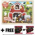 Melissa & Doug Barnyard: 24-Piece Jigsaw Puzzle + Free Scratch Art Mini-Pad Bundle [90612]