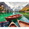Large Puzzle 1000 Pieces Lake Braies Dolomites Italy Jigsaw Puzzles 1000 Pieces for Adults ANVICI Produces 1000 Piece Puzzles for Adults A Family Game Jigsaw Puzzle