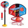 Children Basketball Playing Set Outdoor Sport Adjustable Stand Basket Holder Hoop Goal Game Mini Indoor Kids Yard Game Boy Toys