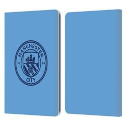 Head Case Designs Officially Licensed Manchester City Man City FC Badge Blue Obsidian Mono Leather Book Wallet Case Compatible with Amazon Kindle Paperwhite 1 / 2 / 3