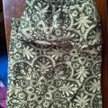 Lularoe Pants & Jumpsuits | Lularoe Os Green Floral Legging Rare Print Nwot | Color: Cream/Green | Size: Os
