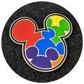 Disney Jewelry   Mickey Mouse Disney Pin: Bright Rainbow Icon   Color: Blue/Red   Size: Os