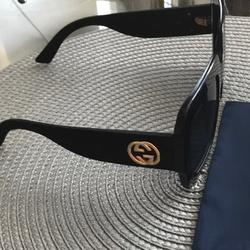 Gucci Accessories   Gucci Shades With Glitter Sides   Color: Black   Size: Oversized Square