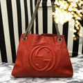Gucci Bags | Gucci Soho Red Shoulder Bag Tote Bag | Color: Red | Size: Os
