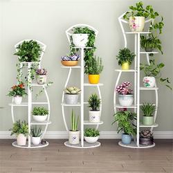 4/5 Tier Plant Stands Indoor Metal Plant Shelf Stand Outdoor Multilayer Potted Planters Display Rack Patio Garden