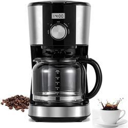 Apepal 12 Cups Coffee Maker w/ Reusable Filter,Programmable Drip Coffeemaker, Multiple Brew Strength, 120V 60Hz 900W Coffee Maker Keep Warm Machine