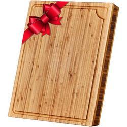 fedigorlocn Large Bamboo Cutting Board w/ Juice Groove - Cutting Boards For Kitchen - 18 X 14 X 1.3 Inch, Size 1.3 H x 14.0 W x 18.0 D in | Wayfair