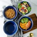 fedigorlocn Porcelain Large Cereal Bowls Set, 35 Oz Ceramic Soup Bowls, Salad Bowls, Large Soup Bowls For Oatmeal, Noodle, Fruit, Ramen Bowl Set