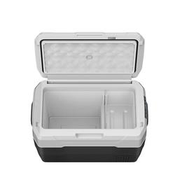 SMARTCLOUDLIFE Car Fridge Portable Freezer Cooler w/ 12/24V Dc & 110-240V Ac, Travel Refrigerator For Vehicles, Car, Truck, Rv, Camping Bbq in Black