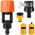 SYOND Mixer Tap Hose Connector, Threadless Tap Adaptor and 1/2'' 3/4'' BSP 2in1 Threaded Faucet Adapter Set, With 1/2'' Hose End Quick Connector and Waterstop Connector
